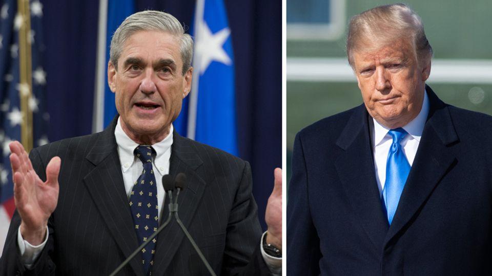 Sonderermittler Robert Mueller (l.) und US-Präsident Donald Trump