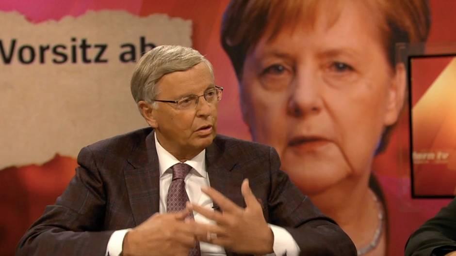 """stern TV-Studiogespräch: Wolfgang Bosbach zu Merkels Rückzug: """"Es ist eine wichtige und richtige Entscheidung"""""""