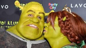 """Halloween-Party: Heidi Klum und Tom Kaulitz gehen als """"Fiona"""" und """"Shrek"""""""