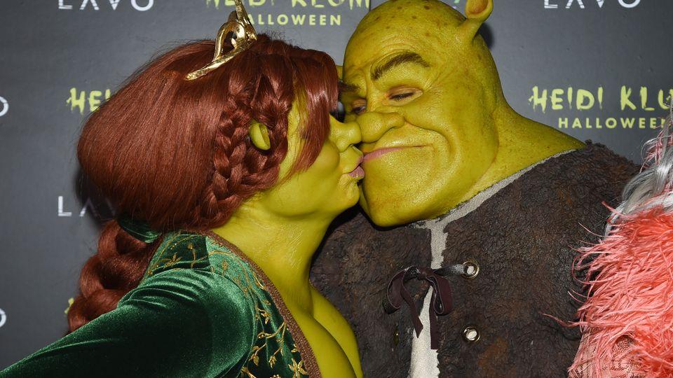 Halloween 2018: Heidi Klum und Tom Kaulitz feiern als Fiona und Shrek