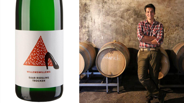 Platz 10      Wie heißt der Wein? 2017 Riesling trocken      Von welchem Weingut ist er? Willems-Willems (Saar)      Wie viel kostet der Wein?8,80Euro