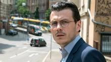 Der österreichische SchauspielerManuel Rubeyspielt den TatverdächtigenJakob Gregorowicz