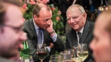 Zwei, die sich bestens kennen: Friedrich Merz und Wolfgang Schäuble