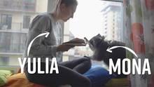 Russland: Diese Frau lebt mit einem Waschbär ein einer WG – und das ist sowas von goldig