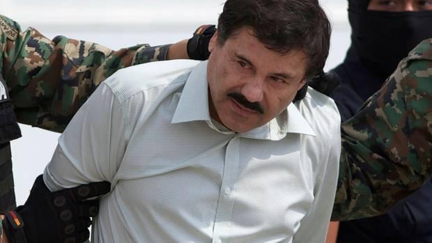 El Chapo nach seiner Verhaftung.