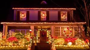 Ein weihnachtliches Haus