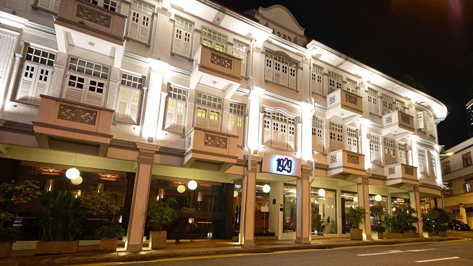 Fassade mit kolonialem Anstrich: das Hotel 1929 in Chinatown.