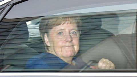 Angela Merkel kommt zu der Vorstandsklausurin Berlin an