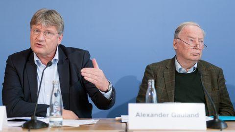 AfD-Parteichef Jörg Meuthen und Fraktionsvorsitzender Alexander Gauland
