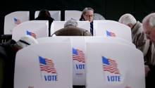 Stimmabgabe in Potomac, im US-Bundesstaat Maryland