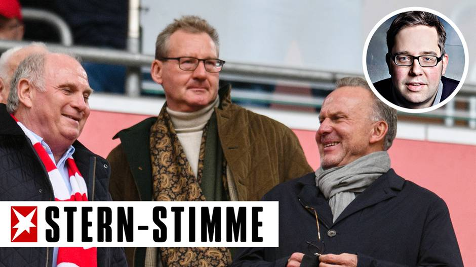 Uli Hoeneß, Dieter Mayer und Karl-Heinz Rummenigge auf der Tribüne beim FC Bayern: Drang nach höhererRendite