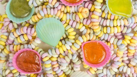 Süße Ketten und Bonbon Muscheln