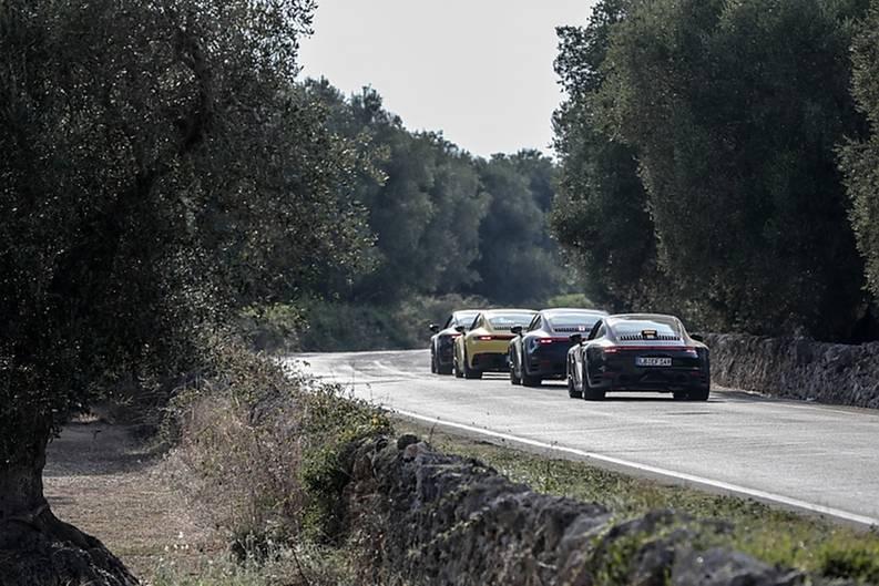 Porsche 911 der Baureihe 992 - auf Erprobung in den USA