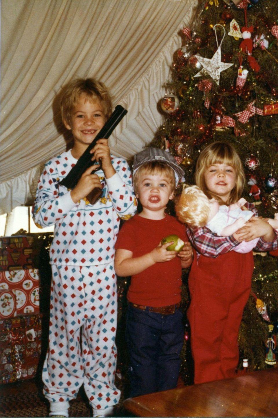 Weihnachten bei Familie Walker: Der kleine Paul (l.) mit seinen jüngeren Geschwistern Caleb und Ashlie.