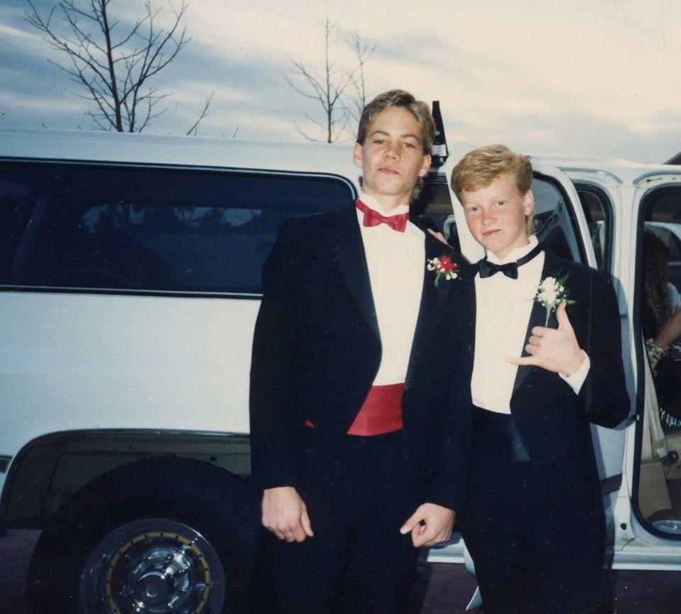 Paul Walker (l.) mit Jugendfreund Andy Muxlow