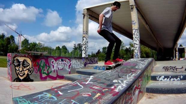 Oliver Noelting im Skatepark