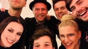 """""""Sing meinen Song - Das Tauschkonzert"""" dieses Mal mit (v.l.h.) Milow, Johannes Oerding, Gastgeber Michael Patrick Kelly und Al"""