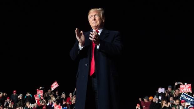 US-Präsident Donald Trump bei einer Wahlkampfveranstaltung zu den Midterms (Archivbild)