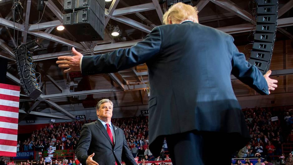 Midterms 2018: Fox News rügt Moderator Sean Hannity für Wahlkampfauftritt mit US-Präsident Donald Trump
