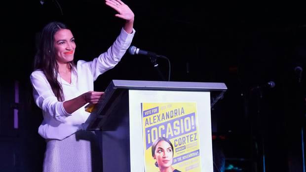 Alexandria Ocasio-Cortez ist die jüngste Frau im Repräsentantenhaus