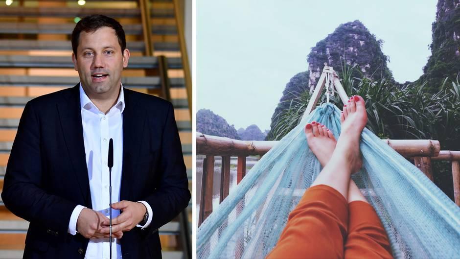 Neus Modell zum Grundeinkommen: SPD-Generalsekretär Lars Klingbeil; eine Person in einer Hängematte