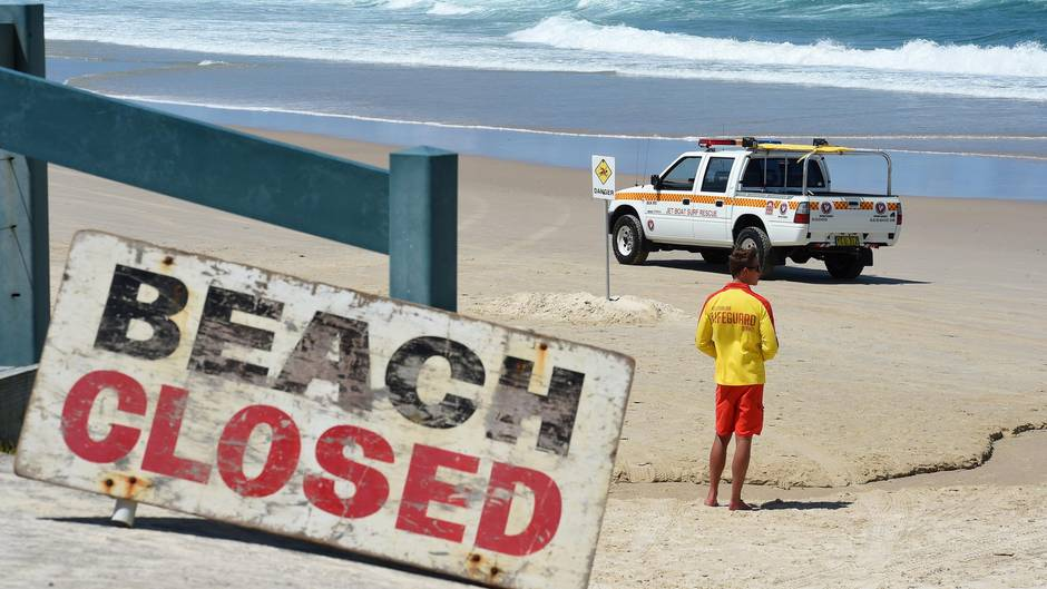 Am Shelly Beach in der Nähe von Ballina, Australien kam es zu einem Hai-Angriff