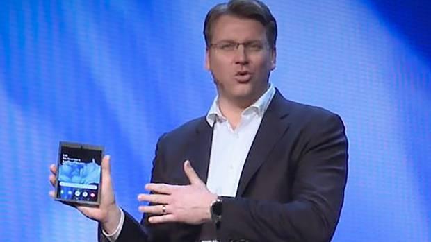 Bei der Samsung Developer Conferencein San Francisco wird das aufklappbare Display gezeigt
