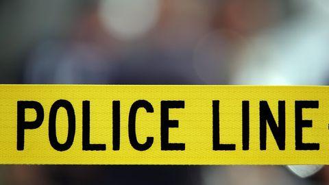 US-Polizei-Flatterband
