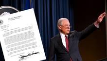 Justizminister Jeff Sessions hat seinen Rücktritt eingereicht
