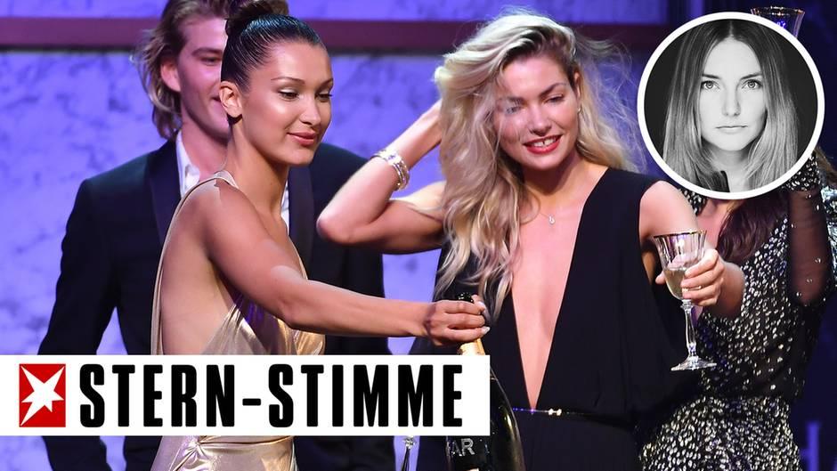 Die Models Bella Hadid und Jessica Hart feiern bei der amfAR-Gala in Cannes