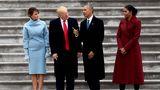 Michelle und Barack Obama mit Donald und Melania Trump