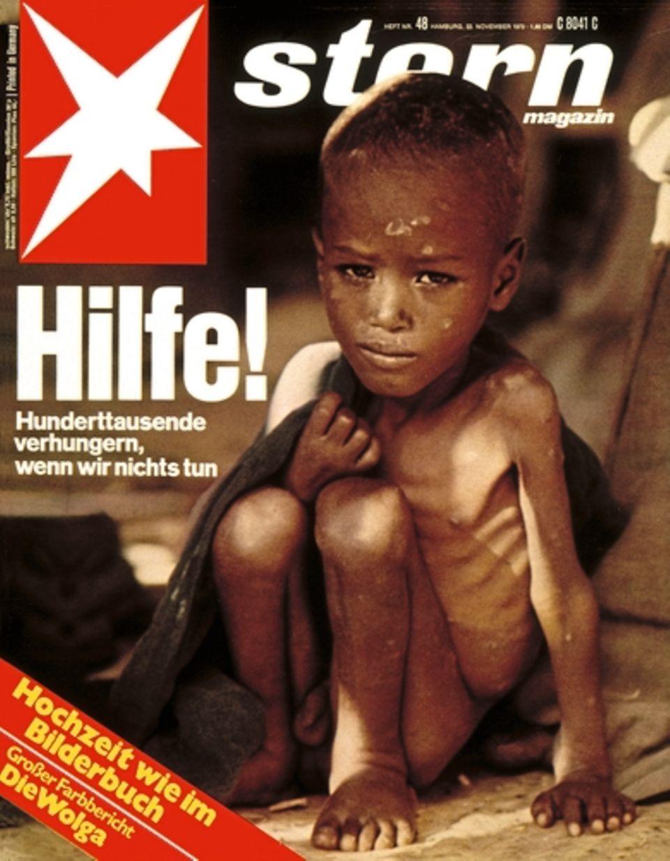1973, Afrika hungert. Eine Titelgeschichte lenkt die Aufmerksamkeit auf die Hungersnot in Äthiopien