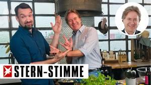 Einsatz am Herd: Frank Behrendt mit Foodboom-Gründer Sebastian Heinz