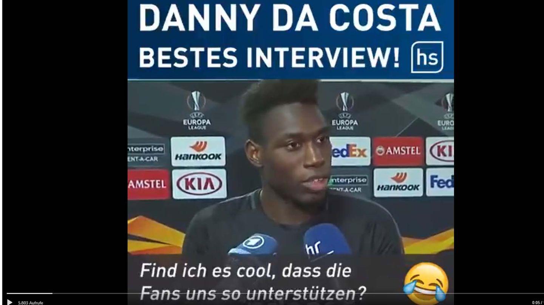 """""""Ja, finde ich cool"""": Eintracht-Frankfurt-Profi Danny da Costa interviewt sich selbst"""