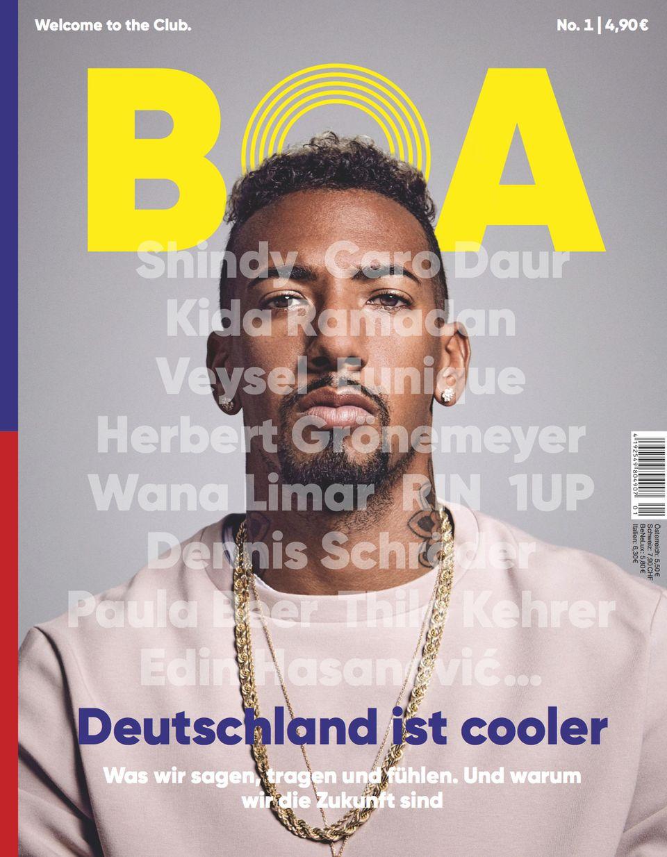 """Cover von Jérôme Boatengs Magazin """"BOA"""""""