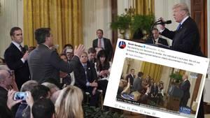 """Weißes Haus soll manipulierten Videoclip als """"Beweis"""" für Handgreiflichkeit verbreitet haben"""