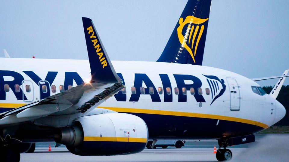 Beschlagnahmt amam Flughafen Bordeaux: eine Boeing 737 von Ryanair (Symbollbild)