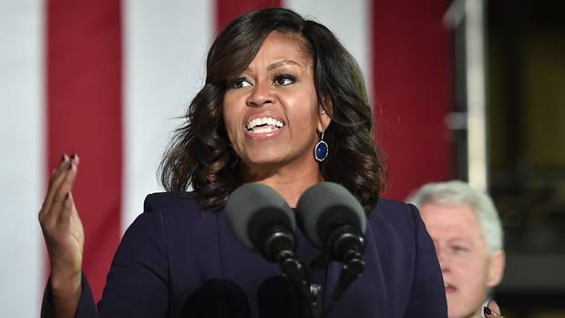 Michelle Obama bei einer Rede in New Hampshire