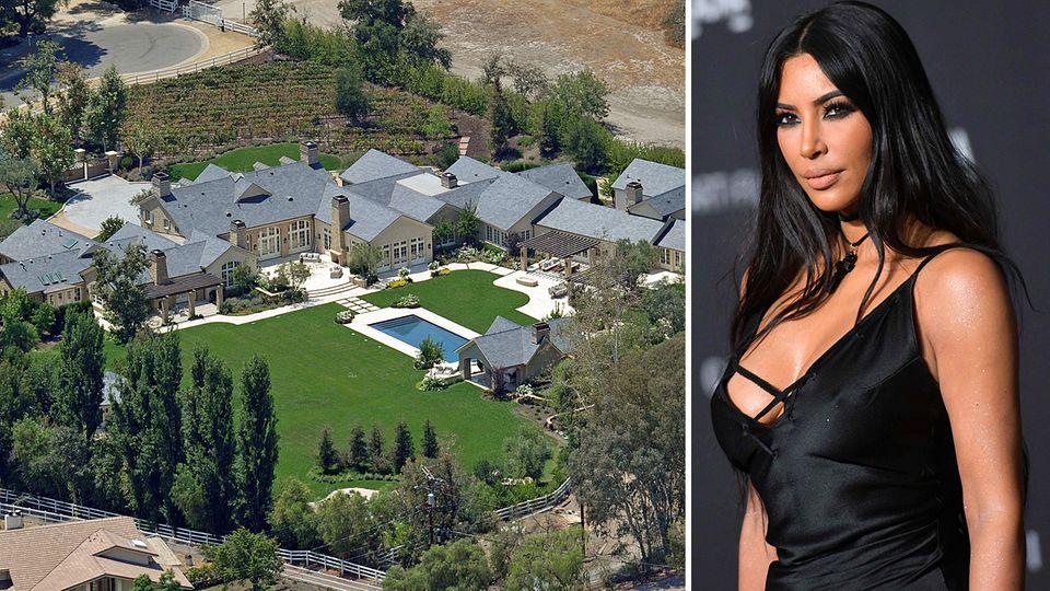 Dieses Anwesen in Hidden Hills kauften Kim Kardashian und Kanye West 2014 und ließen es aufwendig umbauen