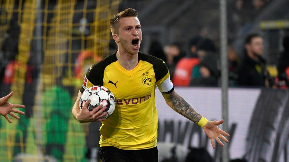Bundesliga-Topspiel: Marco Reus war mit zwei Toren der Matchwinner von Dortmund