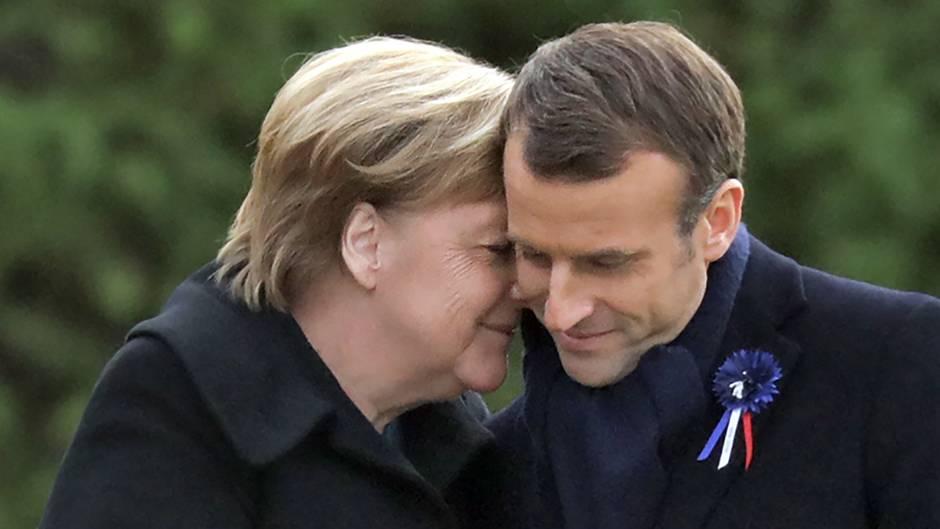 Frankreich: Merkel und Macron gedenken gemeinsam den Opfern des Ersten Weltkriegs