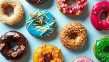 Donuts mit verschiedenen Glasuren