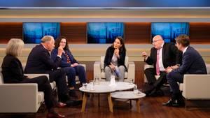 Anne Will diskutiert über Volksparteien