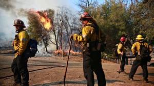 Feuerwehrleute beim Kampf gegen die Brände in Kalifornien