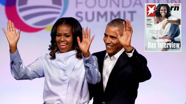 Die frühere First Lady der USA, Michelle Obama, mit Ehemann Barack bei einem Auftritt Ende Oktober in Chicago