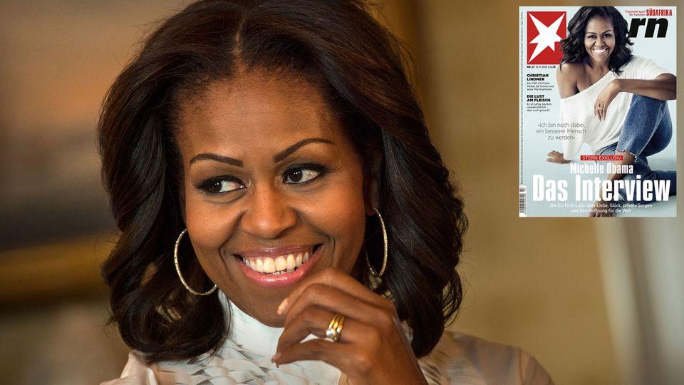 """Treffen in New York: Michelle Obama im stern-Interview: """"Ich hoffe, dass ich weiter die Welt beeinflussen kann"""""""