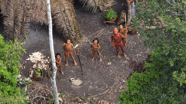 """Rund 170 """"unkontaktierte Völker"""" wie dieses leben weltweit, rund 100davon im Amazonas-Gebiet."""