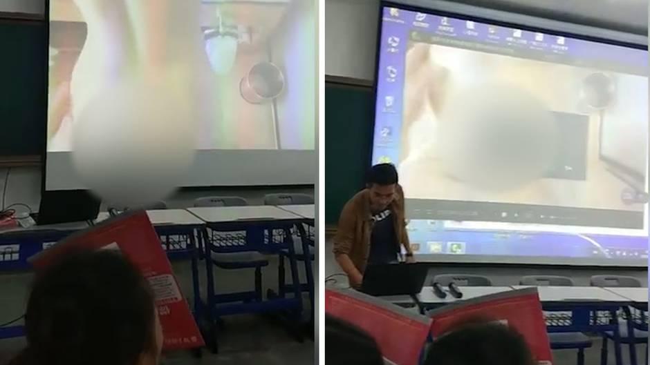 Peinliches Missgeschick: Uni-Dozent spielt versehentlich Pornos während Vorlesung ab