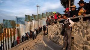 Grenze Mexiko USA Zaun