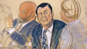 """Joaquin """"El Chapo"""" Guzman beim Prozessauftakt"""